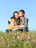Outdoor Portrait of young couple Stock Images