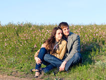 Outdoor Portrait of young couple Stock Photo