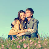 Outdoor Portrait of young couple Stock Image