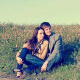 Outdoor Portrait of young couple Royalty Free Stock Photo