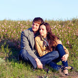 Outdoor Portrait of young couple Royalty Free Stock Photos