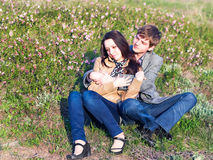 Outdoor Portrait of young couple Royalty Free Stock Image