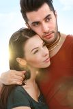 Outdoor portrait of young couple Royalty Free Stock Photography
