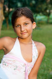 Outdoor Portrait Of A Young Girl Stock Photos