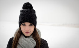 Outdoor portrait of a young girl in the winter Stock Image