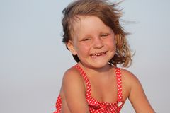 Outdoor portrait of young happy girl Royalty Free Stock Images