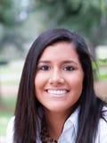 Outdoor portrait of young hispanic teen girl. Young teen latina girl outdoor portrait stock photo