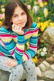 Outdoor portrait of young preteen girl. Outdoor portrait of young preteen 12 year old girl Royalty Free Stock Image
