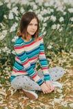 Outdoor portrait of young preteen girl. Outdoor portrait of young preteen 12 year old girl Stock Photos