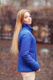 Outdoor portrait of a young pretty woman Royalty Free Stock Photo