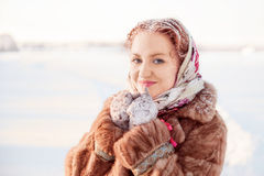 Outdoor portrait of young pretty woman Royalty Free Stock Photography