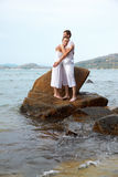 Romantic couple at beach Royalty Free Stock Image