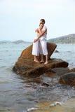 Romantic couple at beach Royalty Free Stock Image