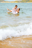 Romantic couple at beach Royalty Free Stock Photography