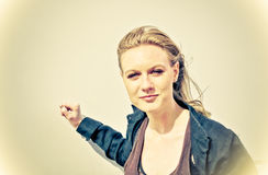 Outdoor portrait young woman Royalty Free Stock Image