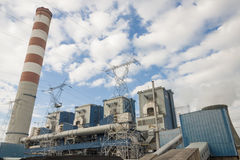Outdoor of power station - Opole, Poland. Stock Photography