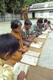 Outdoor primary education for Bangladeshi children stock photos