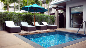 Outdoor Private Swimming Pool Stock Photos