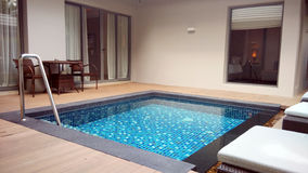 Outdoor Private Swimming Pool Royalty Free Stock Photography