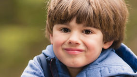 Outdoor prtrait of cute young boy Royalty Free Stock Photography