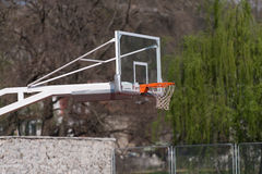 Outdoor Public Basketball Court Stock Images