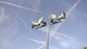 Outdoor public loudspeakers