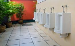Outdoor public men toilet room Royalty Free Stock Photography