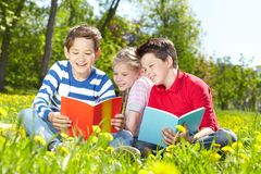 Outdoor reading Royalty Free Stock Image