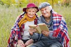 Outdoor reading Stock Images