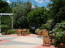 Outdoor Reception Area stock image