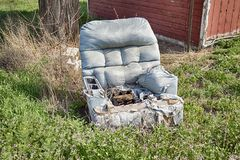 The Outdoor Recliner Stock Image