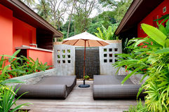 Outdoor recreation area of the SPA center. Phuket,  Thailand Royalty Free Stock Photo