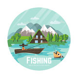 Outdoor recreation and fisherman Stock Images