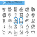 Outdoor Recreation , thin line icons set Stock Photos