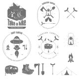 Outdoor Recreation Vector Badge Set. Royalty Free Stock Photography