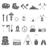 Outdoor Recreation Vector Icon Set. Royalty Free Stock Images