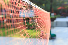 Outdoor red color net in the park Royalty Free Stock Photo