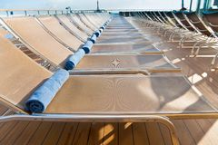 Outdoor relaxation area on cruise liner Stock Photo