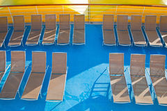 Outdoor relaxation deck of cruise liner Royalty Free Stock Photo