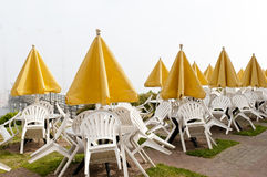 Outdoor resort cafe Stock Images