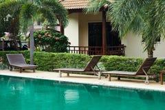 Outdoor resort pool Stock Image