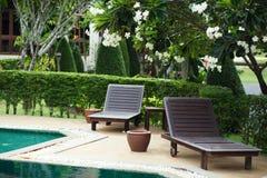 Outdoor resort pool Stock Photo