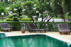 Outdoor resort pool Stock Photos