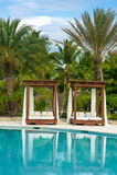 Outdoor resort pool Swimming pool of luxury hotel. Swimming pool in luxury resort near the sea. Tropical Paradise. Swimming pool i Royalty Free Stock Photo