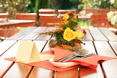Outdoor restaurant Royalty Free Stock Photo