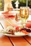 Outdoor restaurant Stock Image