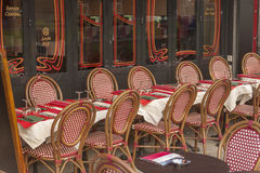 Outdoor restaurant. Parisian  restaurant and cafe with outdoor dining Stock Photography
