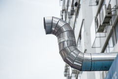 Outdoor restaurant air pipe kitchen airduct Stock Photos