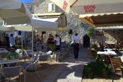 Outdoor restaurant,Budva,Montenegro Royalty Free Stock Image