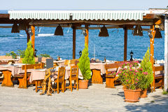 Outdoor restaurant, Bulgaria Royalty Free Stock Images